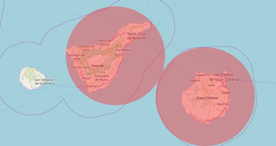 Delivery regions in Tenerife & Gran Canaria